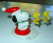 Hallmark Peanuts Gallery JOLLY HOLIDAYS SNOOPY & WOODSTOCK Figurine