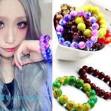 Women Girl Boho Bohemian Retro Blue purple Galaxy beads charm Wrist Bracelet