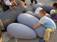 Soft Living Stones Pillow Case Shape Bean Bags Chair BedCushion Cover Top sale