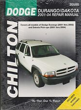 2001-2004 Chilton Dodge Durango & Dakota Repair Manual