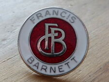 FRANCIS BARNETT pin / badge oblong Rocker 59 Ace Cafe Racer Motorcycle AHRMA