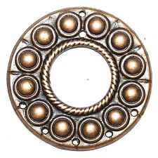 M369 Antiqued Copper 50mm Round Link with 7-Holes Metal Alloy Component 2pc