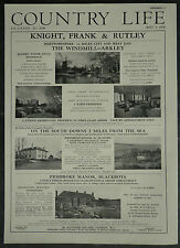 The Windmill Arkley Hertfordshire Estate Agent Details 1958 1 Page Advert