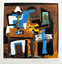 Pablo Picasso THREE MUSICIANS Estate Signed & Numbered Small Giclee Art