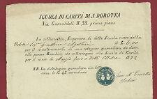 Scuole di Carità di S. Dorotea Firenze - San Frediano Via Camaldoli  1872