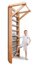 Wall Bars Sport Gymnastic Swedish Ladder Children Home Play Gym Wood 240cm