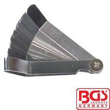 BGS Herramientas 12-BLADE FEELER GAUGE doblado de precisión 3184