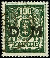 Danzig - Dienst Mi. D37 gestempelt Fotobefund Soecknick BPP 1923 Staa.. (3264)