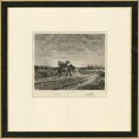 Louis Ruet after Jean-Louis Ernest Meissonier  - 1911 Etching, Le Voyager