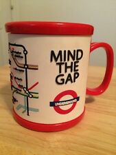 """MIND THE GAP"" LONDON UNDERGROUND ""Tube"" Subway Mug *Raised Rubberized Lettering"