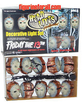 NECA Friday the 13th JASON VOORHEES Head Lites Decorative Light Strand Halloween