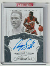 DOMINIQUE WILKINS 2017-18 Flawless ENSHRINED SIGNATURES ON CARD AUTO #02/25