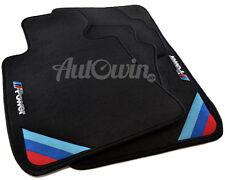 BMW 5 Series E39 E39LCI Black Floor Mats With ///M Power Emblem LHD Clips