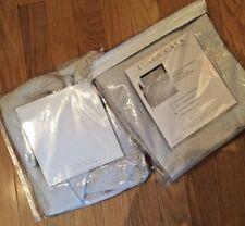 2 Linea Casa By Sferra Matelasse Standard Pillow Shams  GRAY  NEW  $140