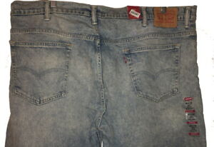 """Mens Levi's 569 NEW 42(46)x32 $59.50 Unique Wash/Shade """"Comfort,Stretch"""" Red Tab"""