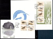 BIRDS HERONS ON SOUTH AFRICA -  VENDA 1993 Sc 257-260a on 2 FDC's
