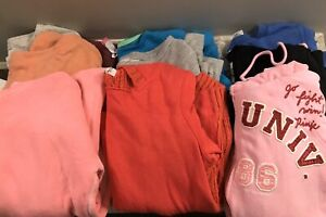 Womens Size Small Sweatshirt Lot PINK American Eagle Aeropostale Forever 21