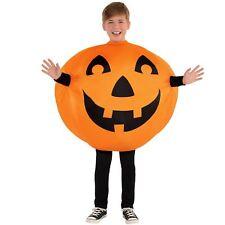 Kids Boys Inflatable Pumpkin Jack O Lantern Novelty Halloween Costume 8-10
