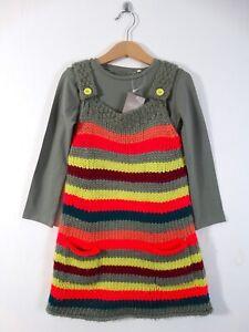 Next John Lewis Girls 3 Piece Set Knitted Dress Top Leggings Age 4-5 Size 5