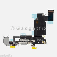 """Charger Charging Port Earpiece Mic Flex Cable For iPhone 6S Plus 5.5"""" Dark Gray"""
