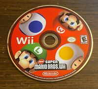 New Super Mario Bros. Wii Nintendo 2009 Disc Only Tested Cleaned Works
