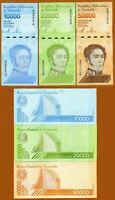 3 Venezuela banknotes-1 x 10000/20000/50000 Bolivares 2019 issue / Uncirculated