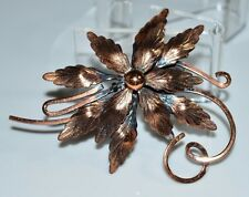 VTG Matisse RENOIR Signed RARE Copper Flower Pin Brooch