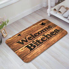 Welcome Bitches Funny Doormats Anti-Slip Carpet Bedroom Door Mat Floor Rug Decor