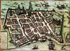 Reproduction plan ancien - Bordeaux vers 1572