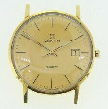 18ct Yellow Gold Zenith Quartz Watch (no strap)