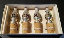 Jeweled Bottle Stoppers Silver Plated Pier 1 Imports Exclusive - Made in India