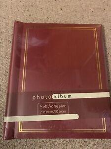 Red Self Adhesive Photo Album