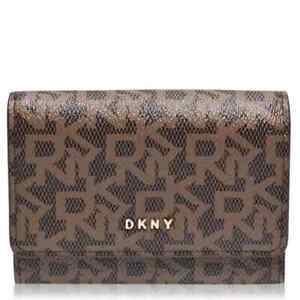 Genuine DKNY Bryant-Bifold Logo Card Case Holder  Brand New with tags