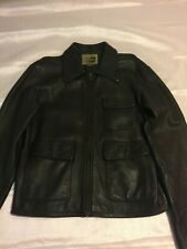 G Brand leather jacket cafe large brown - Guess