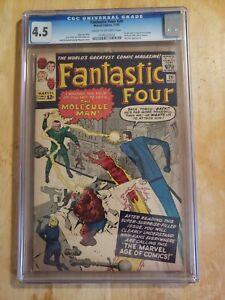 Fantastic Four 20 CGC 4.5 Marvel Jack Kirby Stan Lee 1st Molecule Man