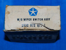 1969-71 Chrysler Plymouth Dodge Mopar C Body 2 Speed Wiper Switch 2932872