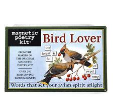 Bird Lover - Fridge Magnet Poetry Set - Fridge Poetry