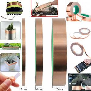 5 10 20mm Wide Copper Tape Slug, Snail Repellent, Self Adhesive Tape 25 Meter uk