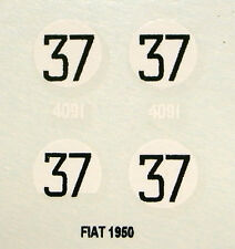 decals 1/43: FIAT Le Mans 1950 N°37