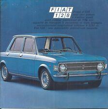 Catalogue dépliant FIAT 128 automobile automobilia katalog propekt brochure