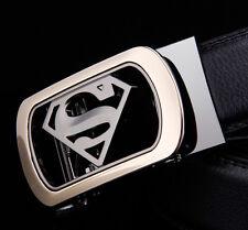 Mens work belt real leahter cowskin belts Automatic superman Buckle belts