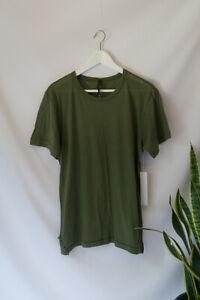 HUDSON Men's Khaki Green T-shirt 100% Cotton Tee Jersey Size M Medium