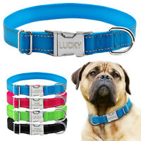 Nylon Reflective Personalized Dog Collars Custom Pet Puppy Cat ID Collar Tag S-L