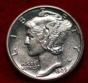 Uncirculated 1929 Philadelphia Mint Silver Mercury Dime