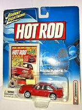 Red 1987 FORD MUSTANG GT 5.0 #6 Johnny Lightning HOT ROD MAGAZINE 1:64 Die-Cast