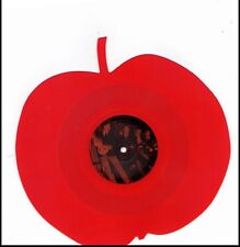 BEATLES APPLE SHAPED RED IMPORT VINYL RECORD