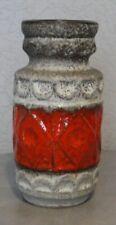 Vintage Vase West Germany Bay 92.20 Fat Lava rouge et gris décor ethnique 1960