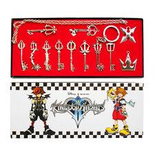 1 SET Kingdom Hearts II KEY BLADE Necklace Pendant Keyblade Keychain Silver