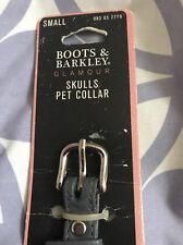 Boots And Barkley Skull Dog Collar Small NWT See Pics