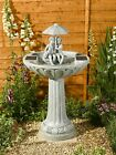 Umbrella Solar Garden Water Feature Ornamental Outdoor Fountain Decorative Patio